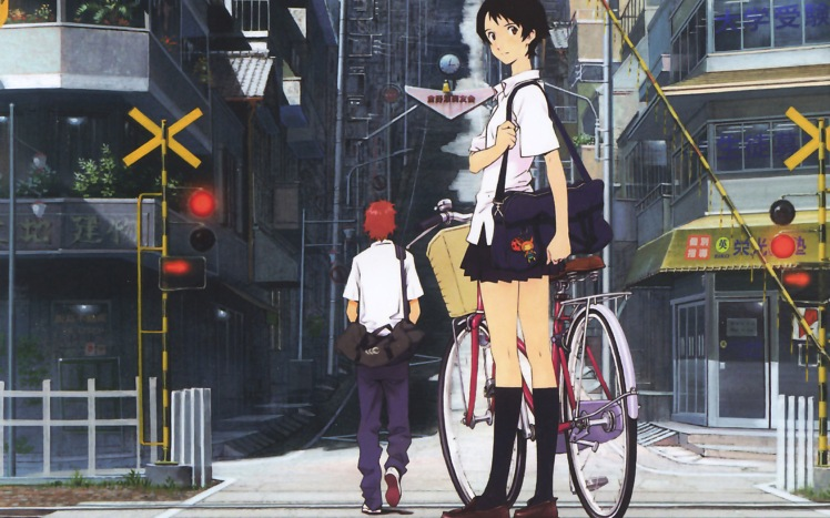 Cityscapes-Bicycles-Architecture-The-Girl-Who-Leapt-Through-Time-Buildings-Makoto-Konno-Chiaki-Mamiya-Fresh-New-Hd-Wallpaper-